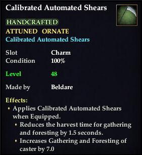 Calibrated Automated Shears