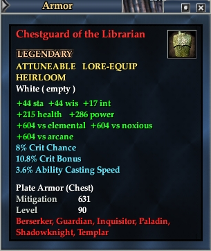 Chestguard of the Librarian