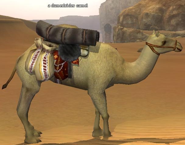 A dunestrider camel