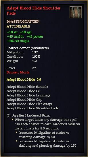 Adept Blood Hide Shoulder Pads