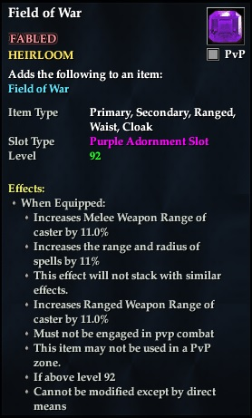 Field of War (92, Heirloom, purple, Fabled) (Crate Reward)