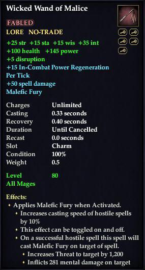 Wicked Wand of Malice (Charm)