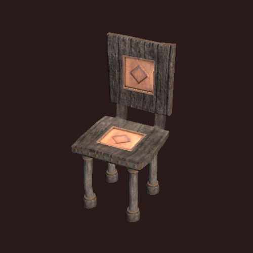 A carved chair