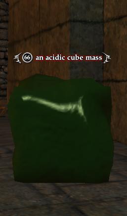 An acidic cube mass