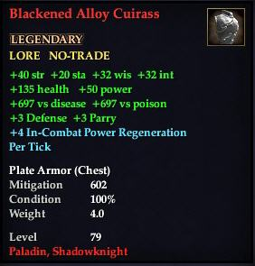 Blackened Alloy Cuirass