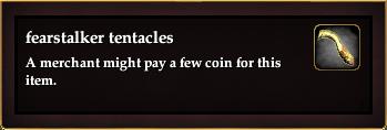 Fearstalker tentacles (Level 80)