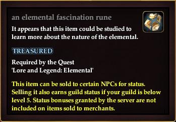 An elemental fascination rune