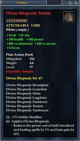 Divine Rhapsody Tonlets (Level 77)