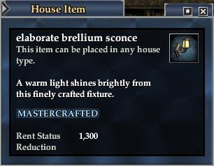 Elaborate brellium sconce