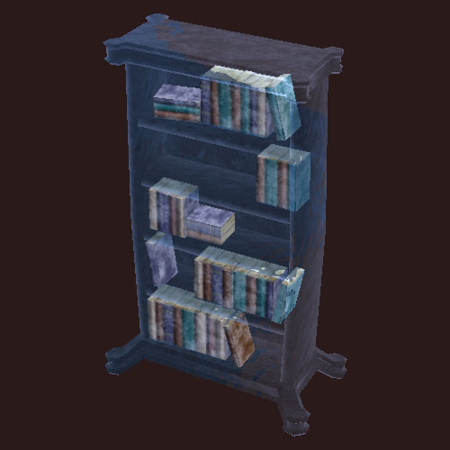 An Icy Ornate Bookcase