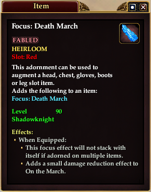 Focus: Death March (Item)
