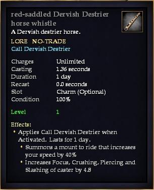 Red-saddled Dervish Destrier horse whistle