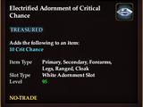 Electrified Adornment of Critical Chance (QuestReward)