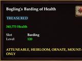 Bogling's Barding of Health