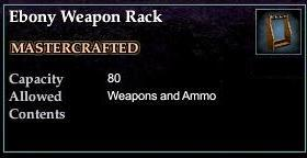 Ebony Weapon Rack