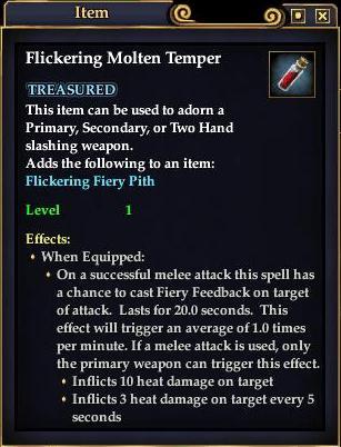 Flickering Molten Temper