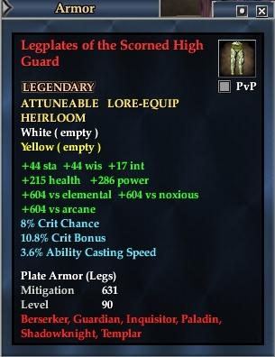 Legplates of the Scorned High Guard