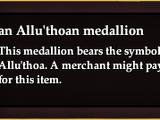 An Allu'thoan medallion