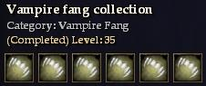 Vampire fang collection