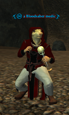 A Bloodsaber medic (Cove of Decay: A Treaty for Treasure)