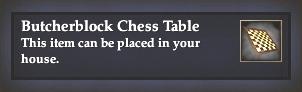 Butcherblock Chess Table