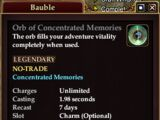 Orb of Concentrated Memories