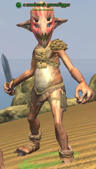 A sandcrack gravedigger