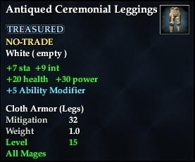 Antiqued Ceremonial Leggings