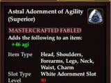 Astral Adornment of Agility (Superior) (Crafted)