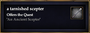 A tarnished scepter