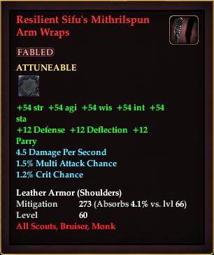 Resilient Sifu's Mithrilspun Arm Wraps