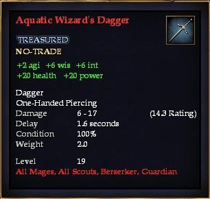 Aquatic Wizard's Dagger