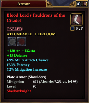 Blood Lord's Pauldrons of the Citadel