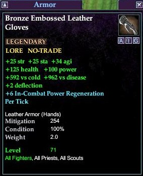Bronze Embossed Leather Gloves (Level 71)