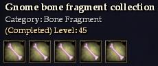 Gnome bone fragment collection