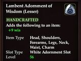 Lambent Adornment of Wisdom (Lesser)