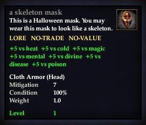 A skeleton mask