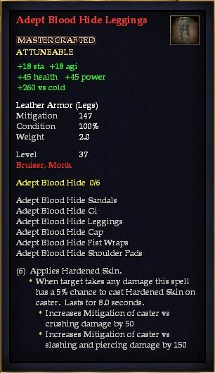 Adept Blood Hide Leggings