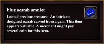 Blue scarab amulet