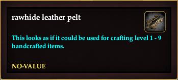 Rawhide leather pelt (Crate Reward)