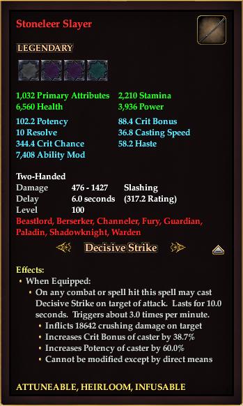 Stoneleer Slayer
