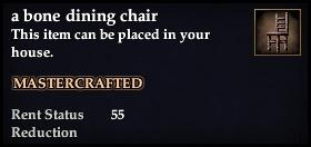 A bone dining chair