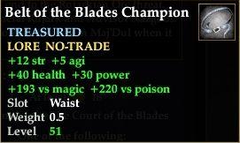 Belt of the Blades Champion