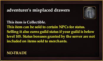 Adventurer's misplaced drawers