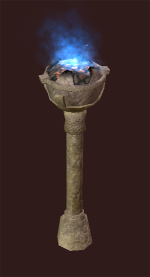 Blue Luminescent Stone Torch