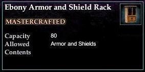 Ebony Armor and Shield Rack