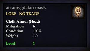 An amygdalan mask