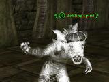 Defiling spirit