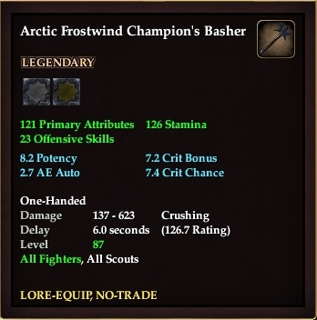 Arctic Frostwind Champion's Basher