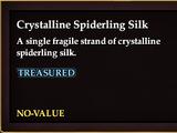 Crystalline Spiderling Silk